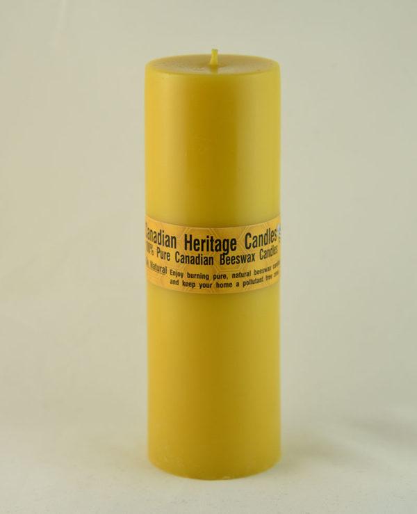 Beeswax Candles Smooth Pillar 9x3