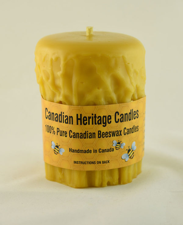 Beeswax Candles Rustic 4x3