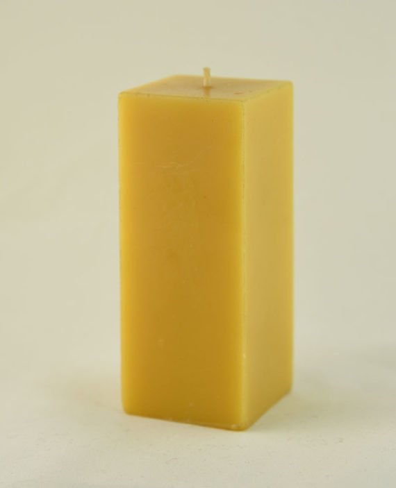 Square Pillar Beeswax Candle