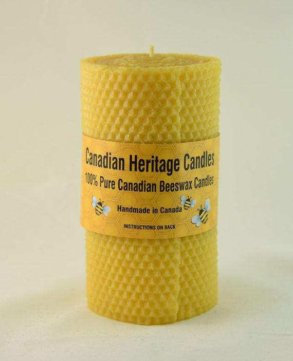 Beeswax Honeycomb Pillar