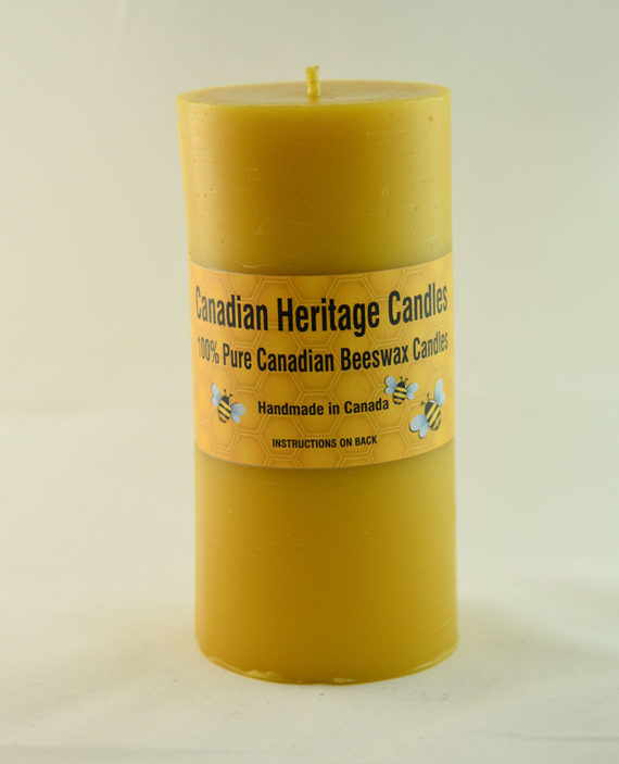 Beeswax Candles Smooth Pillar 6x3