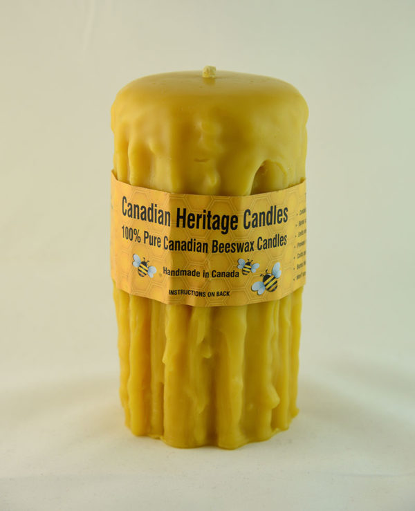 Beeswax Candles Rustic 6x3