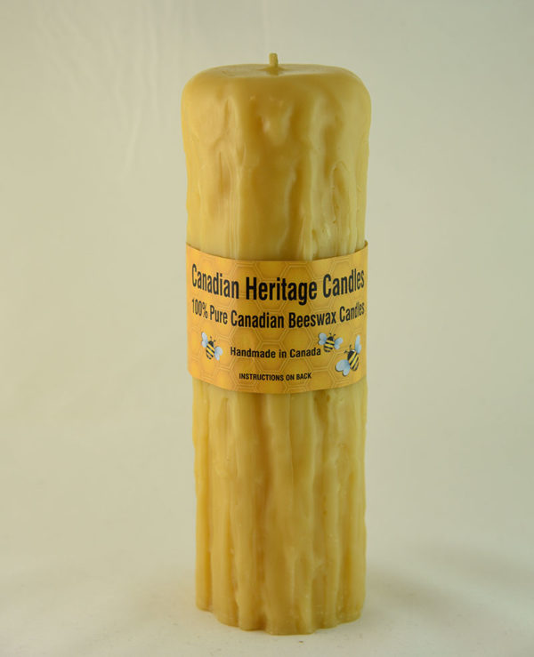 Beeswax Candles Rustic 8x2