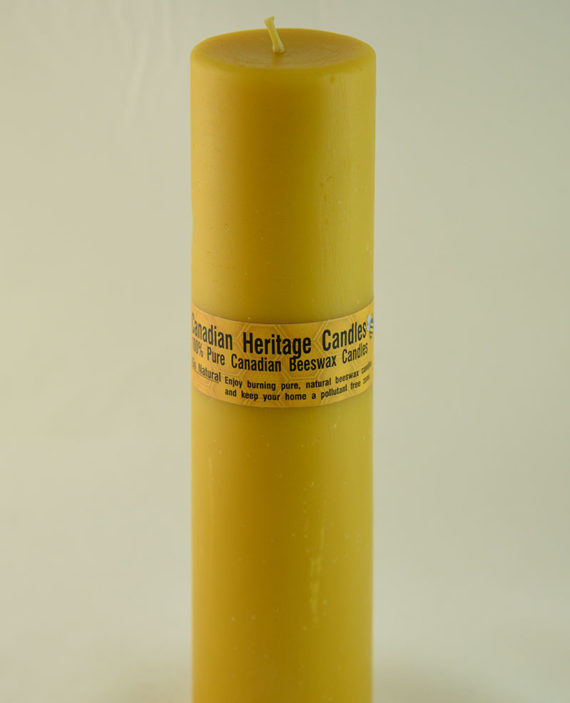 Beeswax Candles Smooth Pillar 8x2